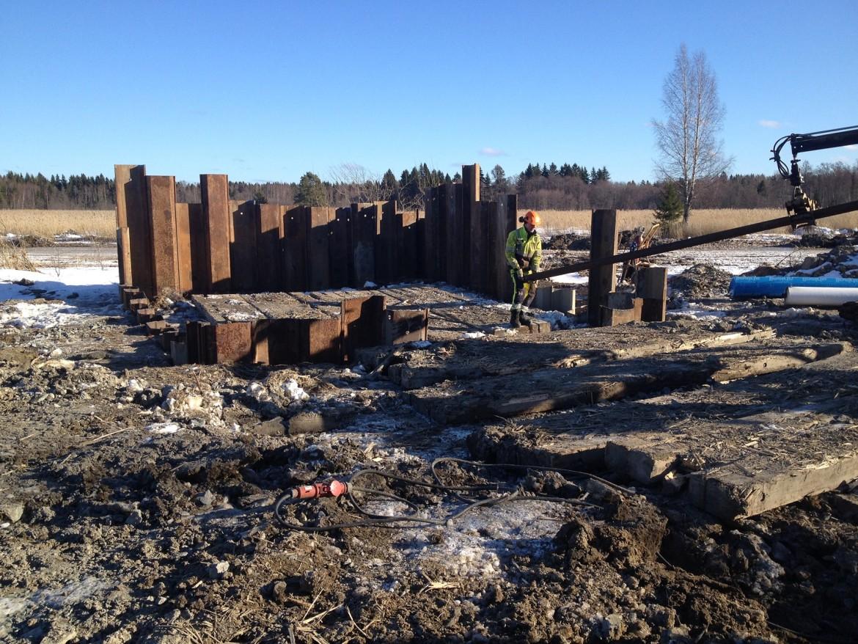 Anläggandet av Karö våtmark är i full gång!