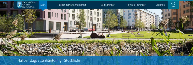 Stockholms dagvattensida äntligen uppe!