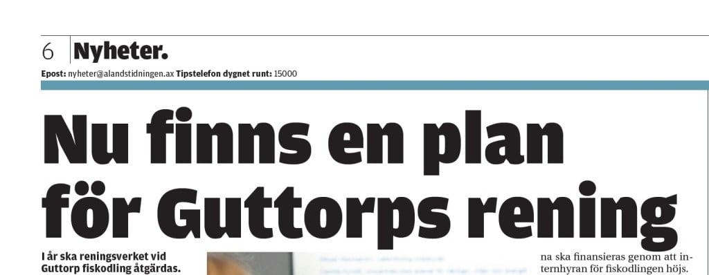 Ålandstidningen skriver om WRS-projekt