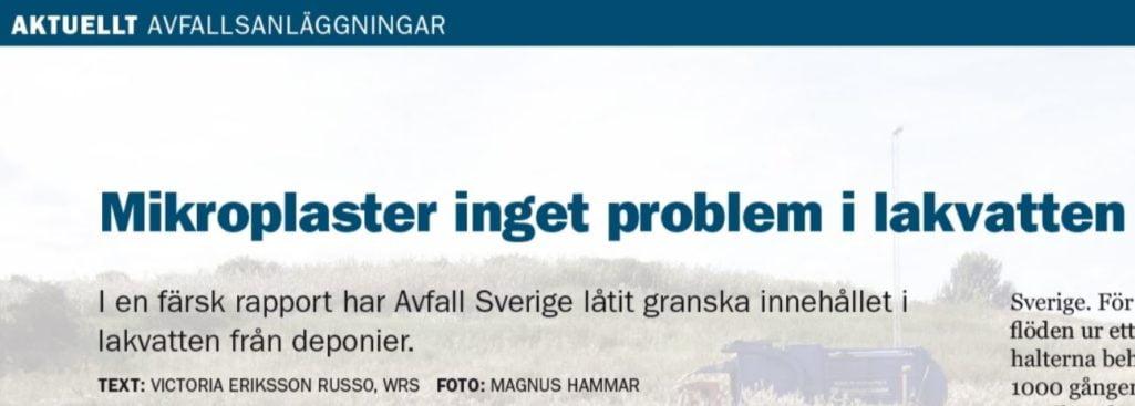 Victorias exjobb i Avfall Sverigeartikel!