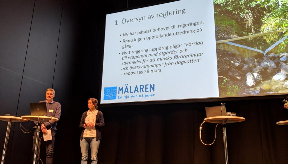 Maja och Jonas föreläste för MER i Västerås