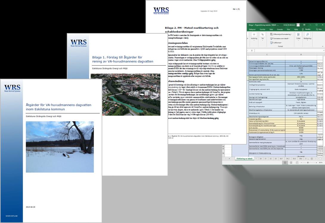WRS har gjort dagvattenplan åt Eskilstuna