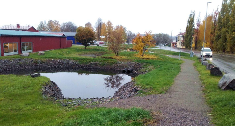 Dagvattendamm byggd i Ljusdal