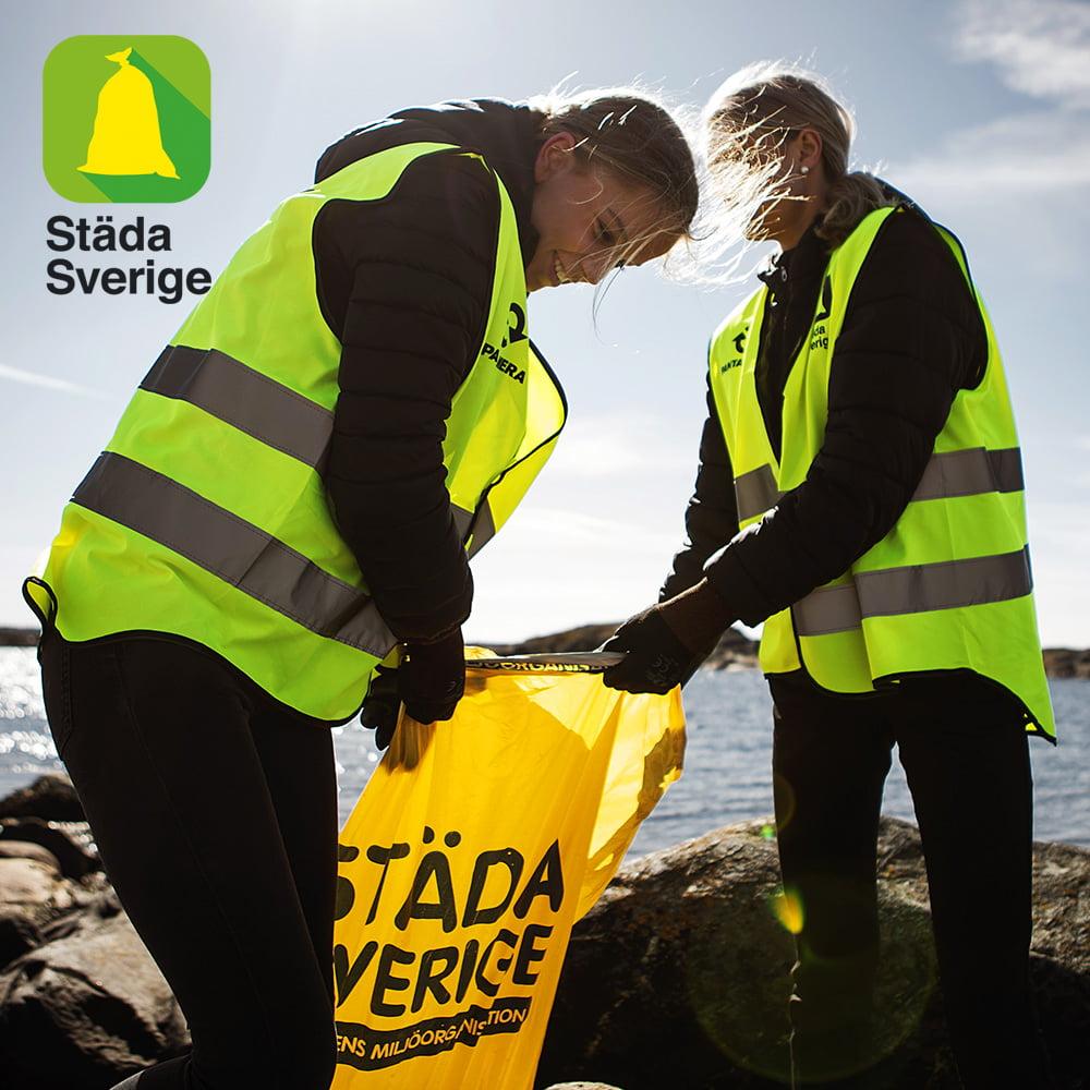 Vi fortsätter stötta Städa Sverige